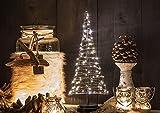 LED-Weihnachtsbaum-Kegel von für innen - Größe: L - 42 cm hoch - 85 LED-Lampen: warmweiß