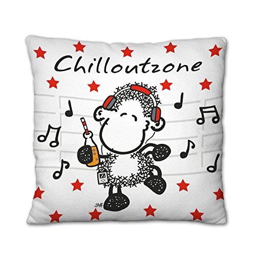 Sheepworld 43295 - Cuscino decorativo in peluche, motivo: Chilloutzone