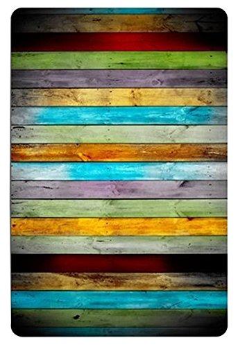 goodbath Funny Badteppich Teppiche, Anti Rutsch-Rechteck Boden Eingänge Outdoor Innen vorne Fußmatte Teppich-39,9x 59,9cm, Polyester-Mischgewebe, Color Wood, 15.7