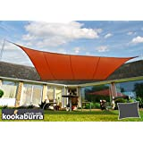 Kookaburra Toldo Vela de Sombra Para Jardín - Impermeable - 4m x 3m Rectangular Terracota