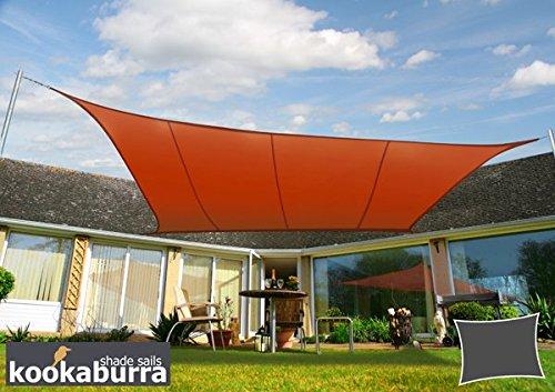 Kookaburra Wasserfest Sonnensegel 4,0m x 3,0m Rechteck Terrakotta