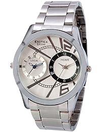 Exotica Analog White Dial Men's Watch (EF-Dual-99-White)