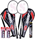 #3: Silver's Pro-170 2 Racquets plus 1 Box S/C Marvel plus 2 PVC Grips Badminton Racquet (Racquet color may vary)