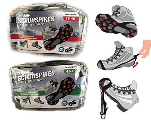 universal Schuh-Spikes Schuhspikes in praktischer Tasche (Schuhe Universal)