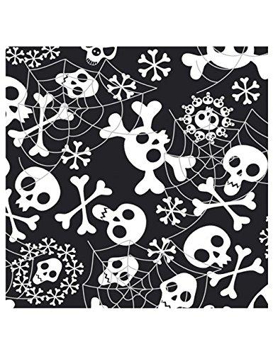 alloween-Servietten - Totenköpfe - Schwarz/Weiss (Schwarz Und Weiß Halloween)
