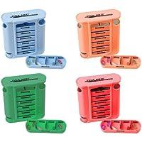 Medikamentendosierer Tablettenbox 4er Set (=4Stück - jede Farbe 1x) Pillenbox Pillendose 7 Tage Medikamenten Dosierer... preisvergleich bei billige-tabletten.eu