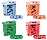 Medikamentendosierer Tablettenbox 4er Set (=4Stück - jede Farbe 1x) Pillenbox Pillendose 7 Tage Medikamenten Dosierer Spender Original Tiga-Med Qualität