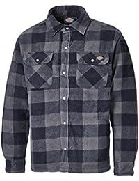 Dickies Portland Shirt High Quality Padded Work Shirt Jacket Polar Fleece Check Design Studded Front Opening Chest Pockets Comfort Warm SH5000