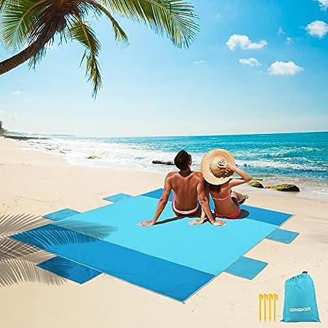 Couverture de plage, matelas de pique-nique portatif en nylon, matelas