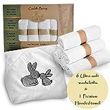 Cuddle Bunny Organics-7 - Juego de toalla con capucha y paños de...