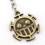 One Piece Portachiavi in Metallo Trafalgar Law Logo Simbolo Heart Pirati