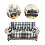 KINLO® Sofaüberwurf Grau 167x254cm 2 Sitzer aus 65% Baumwolle +35% Polyster modern Sofahusse die Sofa verschönen Weiches Material geeignet für Winter 2 Jahren Garantie