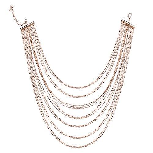 BABEYOND Damen Halsketten Mehrschichtige Ketten Messing Halskette Strang Kette Luxus Halskette Damen Modeschmuck Accessoires Gold (Lange Goldene Halskette Modeschmuck)