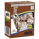 16 x Bozita Cat Tetra Recard Häppchen in Gelee Elch 370g, Nassfutter, Katzenfutter
