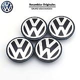 4Nabenkappen mit Volkswagen-Logo für Felgen, 65mm für Golf Polo Beetle Fox