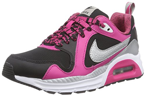 Nike Air Max Trax (Gs) Mädchen Sneakers Mehrfarbig (Black/Metallic Silver-White-Vivid Pink)