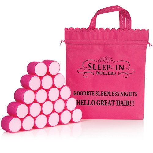 Original Pink di Sleep-in Rollers grandi boucles- rotoli ha capelli di notte In Rosa