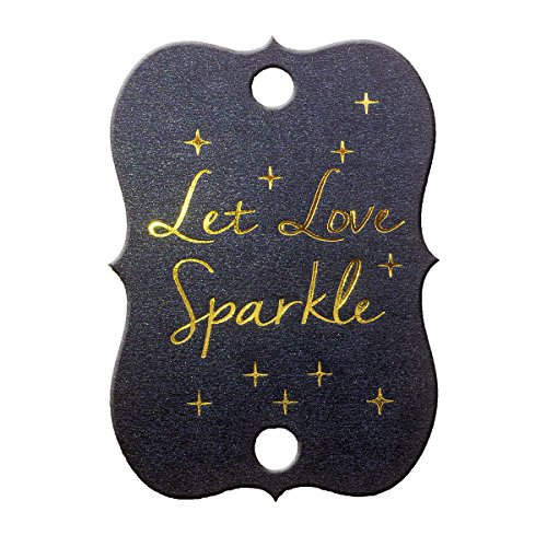 summer-ray 50Shimmer Schwarz Gold Folie Hot Stamping Little Violine Hochzeit Wunderkerze Tags Let Love Sparkle