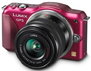 Panasonic Lumix DMC-GF5KAEF-R Kit Compact hybride 12,1 Mpix Rouge + optique 14-42 mm
