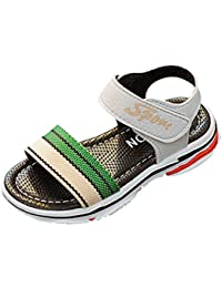 Huhua-Baby Sandal Sandals for Boys, Sandali Bambine Rosa Hot rosa, Nero (Nero), 27 EU
