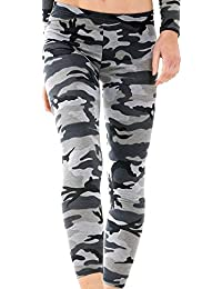 MIXLOT Damen Grau Camouflage Army Print Sexy Tops Bottom Eyelet Mesh Bodysuits