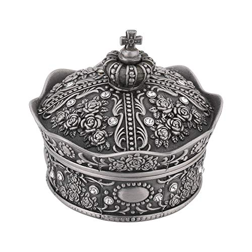 Jinxuny Caja joyería aleación Metal Anillo Trinket