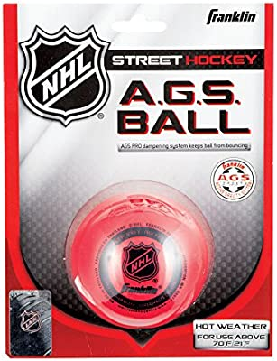 Franklin Streethockey Ball Ags Super High Density - Pelota / Disco de hockey sobre patines, color rojo