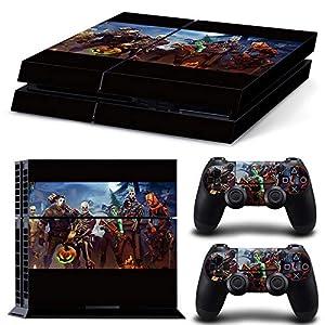 RemyCoo PlayStation 4 Beliebte Battle Royale Vinyl Decal Haut Aufkleber für PS4 Konsole + 2 PCS Haut für PS4 Controller – Schwarz