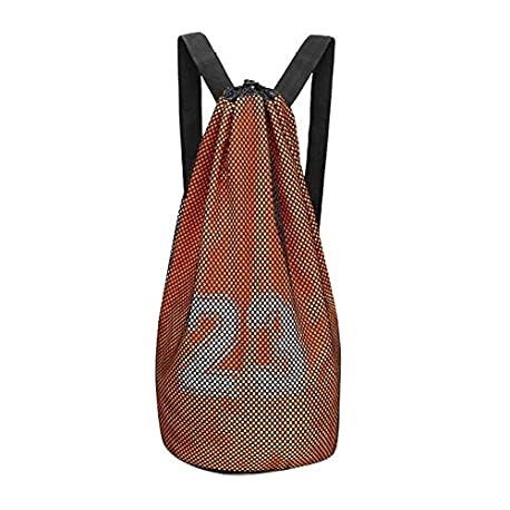 Black Temptation Bolsa de Baloncesto Paquete de Entrenamiento Bolsa de Red de Baloncesto Mochila con cord n F2