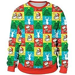 U LOOK UGLY TODAY - Sudadera con Capucha - Manga Larga - para Hombre árbol de Navidad M