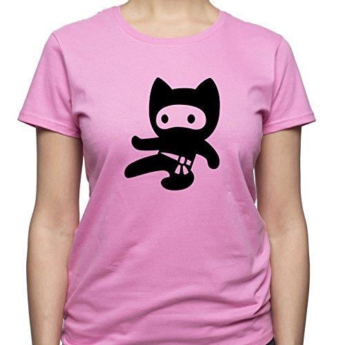 Funny Ninja Shirt Ninja Kid Tshirt Cute Ninja T Shirt Ninja Fan Gift Damen T-Shirt Rosa M (Karate Kid T-stücke)