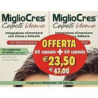 MiglioCres Capelli Uomo Integratore Alimentare 60 Capsule+ 60 Capsule 04ccb1bc0c62