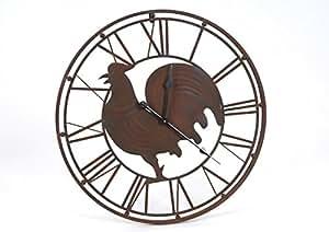 Horloge en métal Coq 69cm