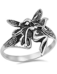 925 Sterling Silver Fairy Ring