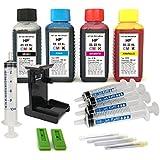 Kit de recarga para cartuchos de tinta HP 21, 22, 21 XL, 22 XL negro y color, tinta de alta calidad incluye clip y accesorios