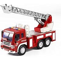 Kinder Spielzeug Musik Light Lift Truck, mamum Fire Rescue Truck mit Crane Toys Reibung powered Fahrzeug mit Licht und Musik Einheitsgröße a