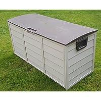 [Patrocinado]Jardín Baúl de almacenaje para exteriores (plástico, 248L, color marrón