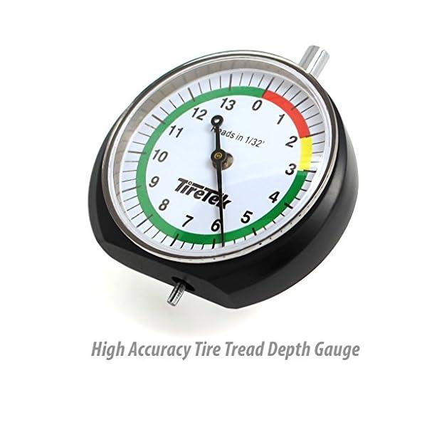 TireTek Automotive Set de regalo–incluye Premium neumático medidor de presión, medidor de profundidad del dibujo y tapas de válvulas–mejor juego de accesorios de coche para neumático mantenimiento