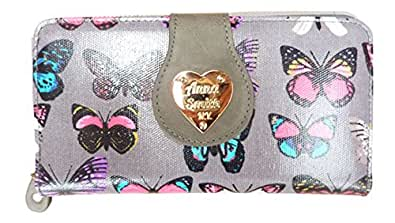Girly Ladies LYDC Purse Butterfly Print Oilcloth Patent Wallet Boxed Gift Designer UK