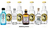 Gin Tonic mini 4er Set - Bombay Sapphire London Dry Gin 5cl (40% Vol) + Monkey 47 Schwarzwald Dry Gin 5cl (47% Vol) + The Botanist Islay Dry Gin 5cl (46% Vol) + The Duke Munich Dry Gin 5cl (45% Vol)