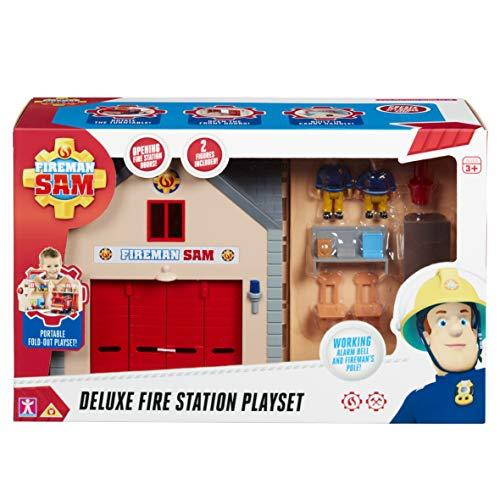 Sam Le Pompier - Coffret Deluxe La Caserne des Pompiers - Bâtiment + Figurines 7 cm