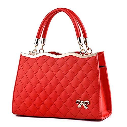 LYLb Satchel Geldbörsen und Handtaschen für Frauen Schulter Tote Bags (Farbe : Groß Rot)