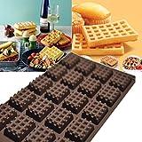 HCFKJ Küche Silikon Mini Runde Waffeln Pan Kuchen Schokolade Pan Backform Waffel Tablett