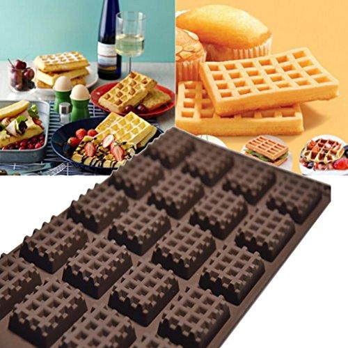Mini Runde Waffeln Pan Kuchen Schokolade Pan Backform Waffel Tablett ()