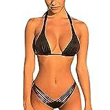 HUIHUI Sport Yoga Tankini mit Shorts Strand Bikini Set mit Top (Weiß,M)