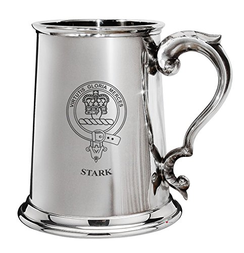 I Luv LTD Stark Family Crest polished tin 1 paints beer mug with the drive parade