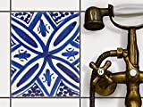 creatisto Küche Bad Fliesenaufkleber Folie Sticker | Deko-Fliesen Küchen-Fliesen Bordüre Küchendeko | 20x25 cm Muster Ornament Spanish Tile 7-1 Stück