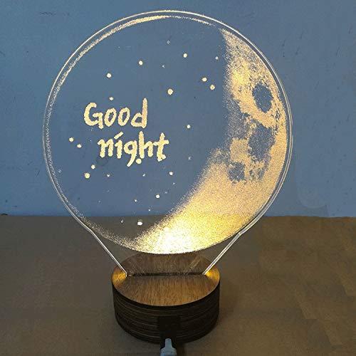 Fünf Licht Wandleuchte Strip (SMAQZ 3D Lampe Dekoration Lampe - Mond Lampe, Led Nachtlicht, Gute Nacht C, Fünf Farbiges Licht)