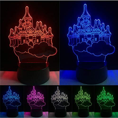 Ameublement et décoration Led 3D Bâtiment Creative Acrylique Coloré Château Table Lampe Décor Gradient Atmosphère Nuit Lumière Bébé Sommeil Éclairage Enfants Cadeaux Éclairage pour enfants
