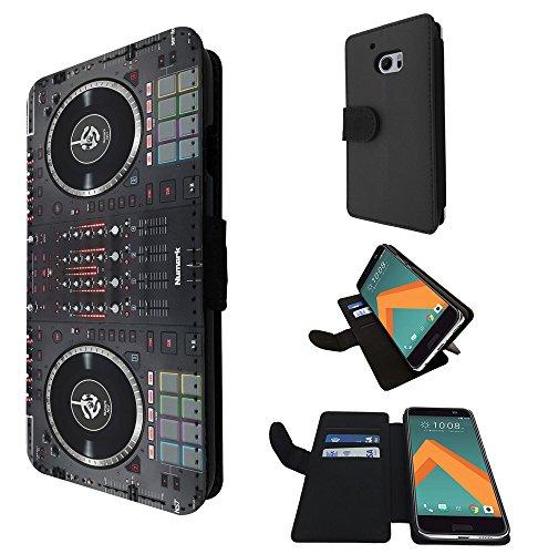 565 - Dj Mixer Controller Cool Music Dj Clubbing Design Huawei P9 Lite Fashion Trend TPU Leder Brieftasche Hülle Flip Cover Book Wallet Credit Card Kartenhalter Case (Dj Cover)